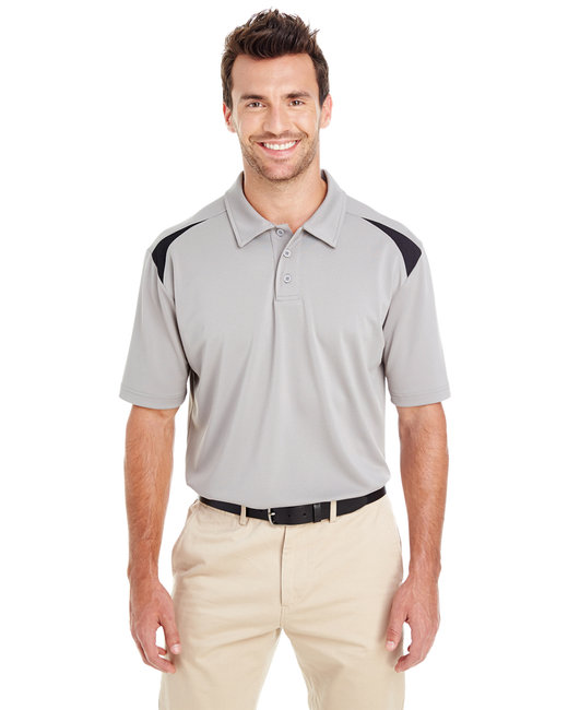 Dickies Men's 6 oz. Performance Team Polo - Smoke/ Black