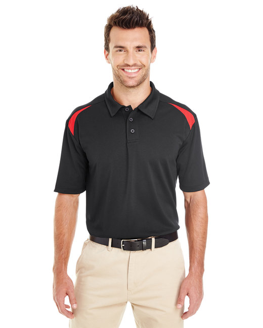 Dickies Men's 6 oz. Performance Team Polo - Black/ Eng Red