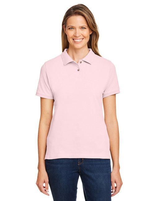 Harriton Ladies' 6 oz. Ringspun Cotton Piqué Short-Sleeve Polo - Blush