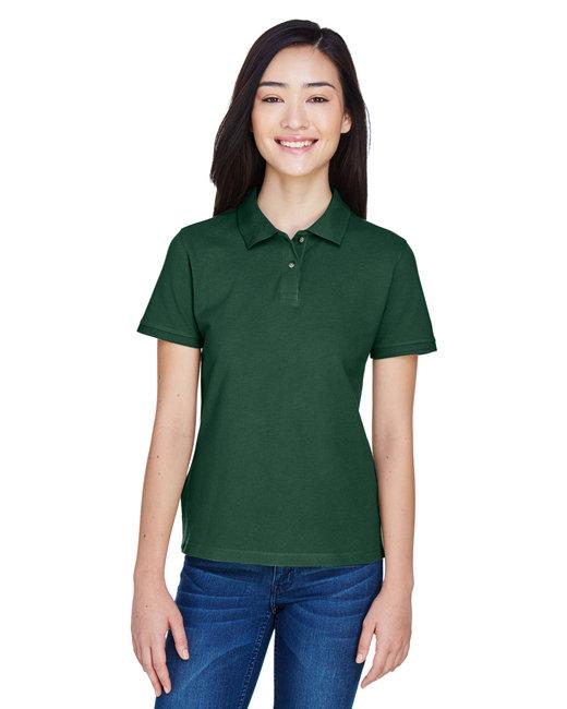 Harriton Ladies' 6 oz. Ringspun Cotton Piqué Short-Sleeve Polo - Hunter