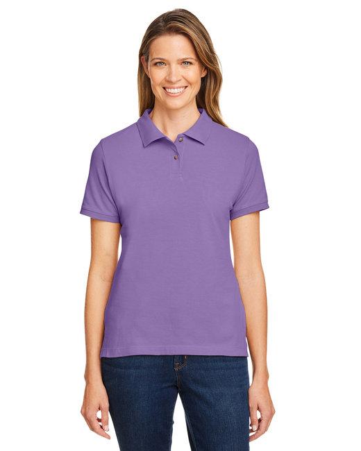 Harriton Ladies' 6 oz. Ringspun Cotton Piqué Short-Sleeve Polo - Team Purple