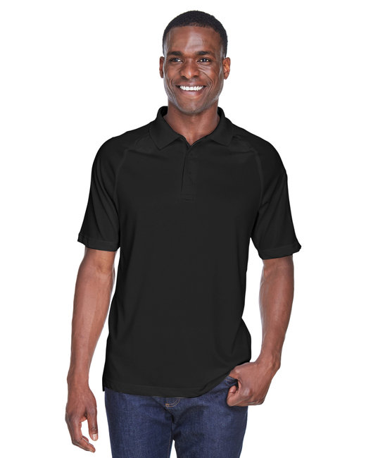 Harriton Adult Tactical Performance Polo - Black
