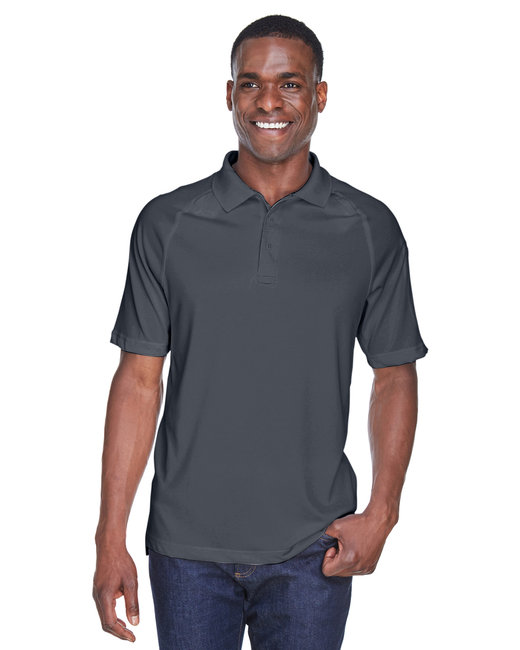 Harriton Adult Tactical Performance Polo - Dark Charcoal