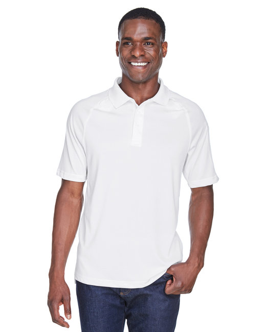 Harriton Adult Tactical Performance Polo - White