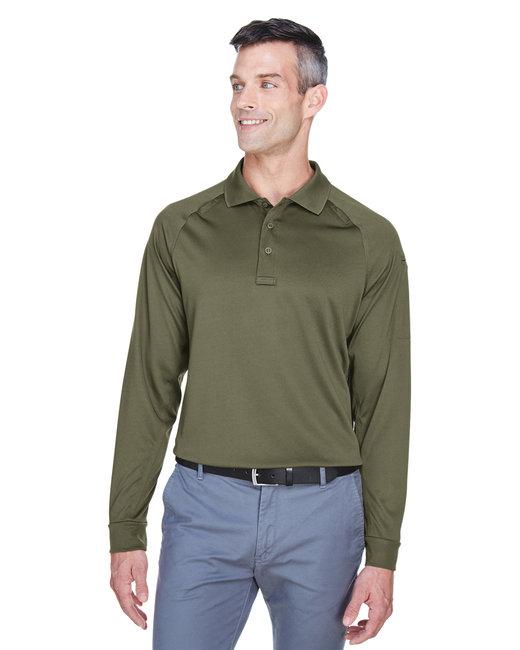 Harriton Men's Advantage Snag Protection Plus Long-Sleeve Tactical Polo - Tactical Green