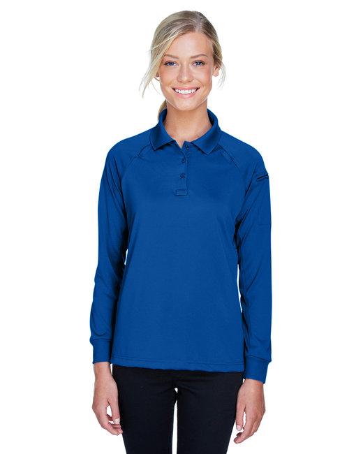 Harriton Ladies' Advantage Snag Protection Plus Long-Sleeve Tactical Polo - True Royal
