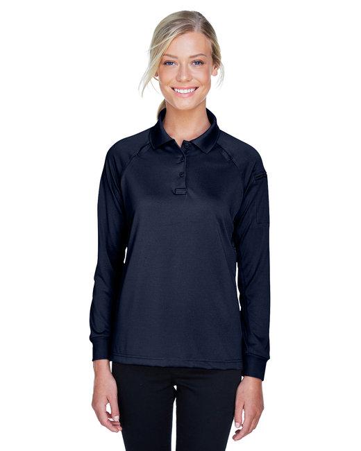 Harriton Ladies' Advantage Snag Protection Plus Long-Sleeve Tactical Polo - Dark Navy