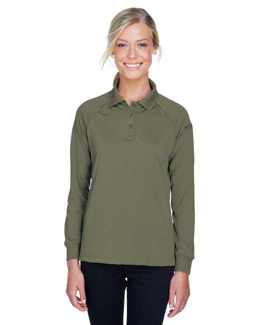 Harriton Ladies' Advantage Snag Protection Plus Long-Sleeve Tactical Polo - Tactical Green