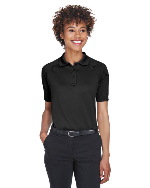 Harriton Ladies' Advantage Snag Protection Plus Tactical Polo - Black
