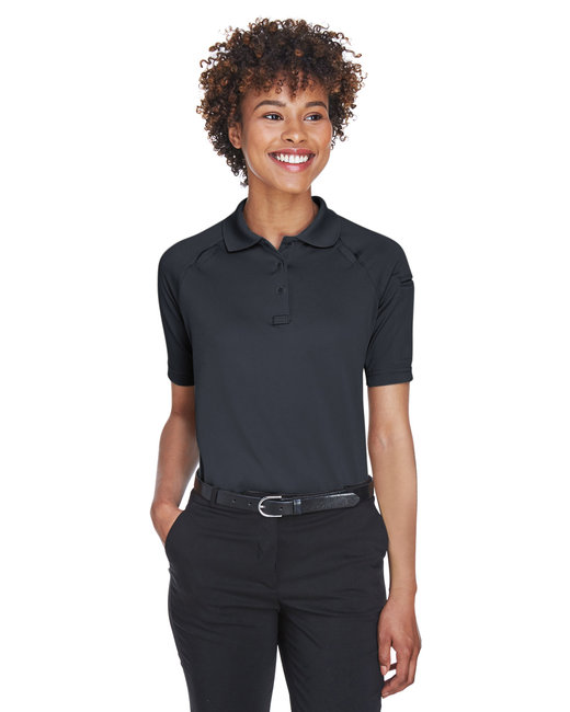 Harriton Ladies' Advantage Snag Protection Plus Tactical Polo - Dark Charcoal