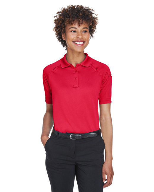 Harriton Ladies' Advantage Snag Protection Plus Tactical Polo - Red