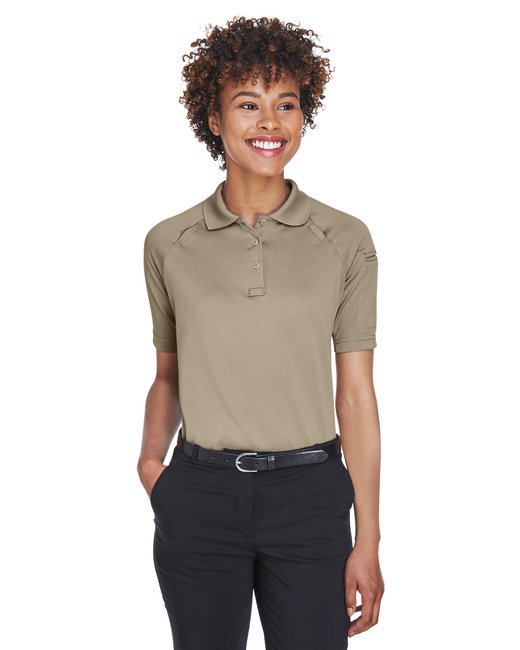 Harriton Ladies' Advantage Snag Protection Plus Tactical Polo - Desert Khaki