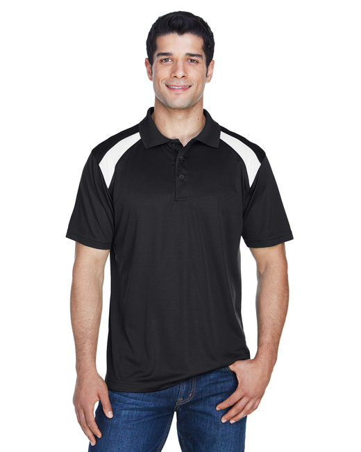 M318 Harriton Adult 4 oz. Polytech Colorblock Polo