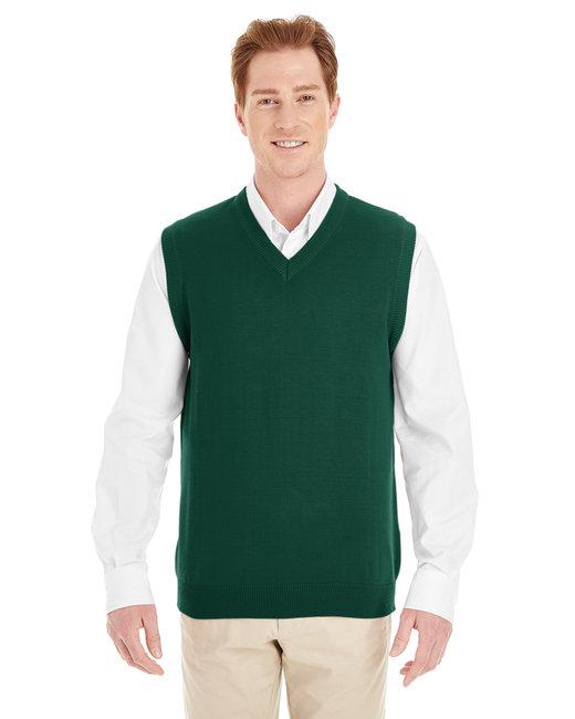 Harriton Men's Pilbloc™ V-Neck Sweater Vest - Hunter