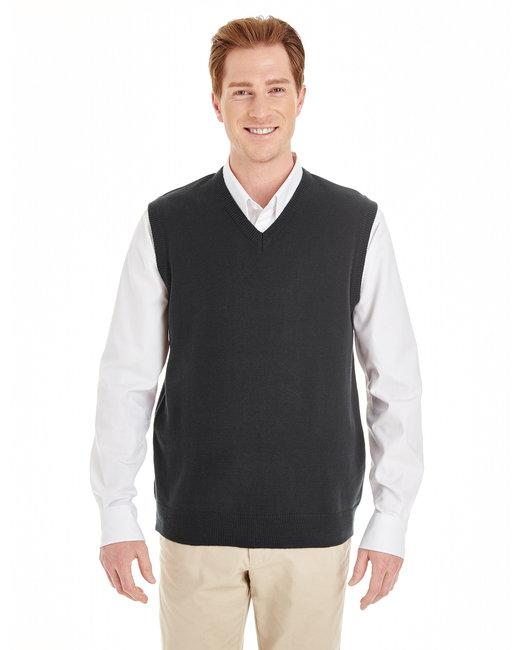 Harriton Men's Pilbloc™ V-Neck Sweater Vest - Black