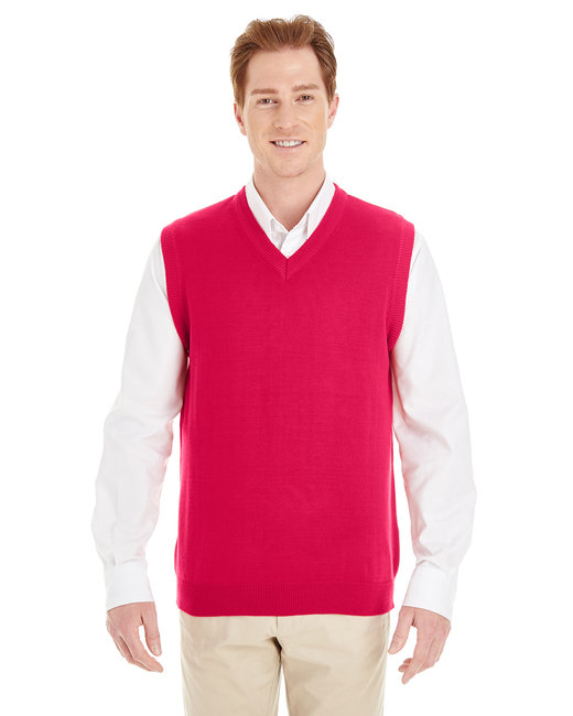 Harriton Men's Pilbloc™ V-Neck Sweater Vest - Red