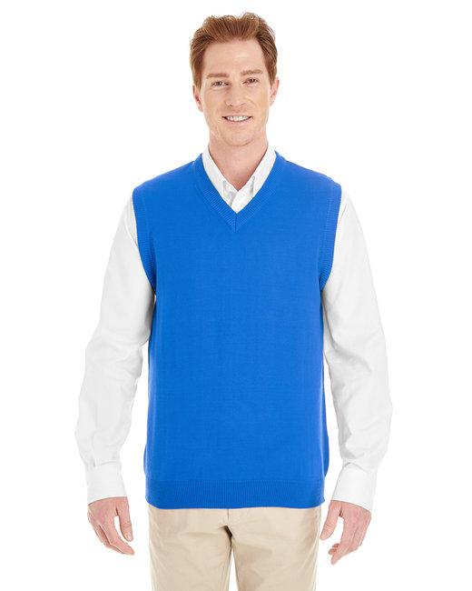 Harriton Men's Pilbloc™ V-Neck Sweater Vest - True Royal