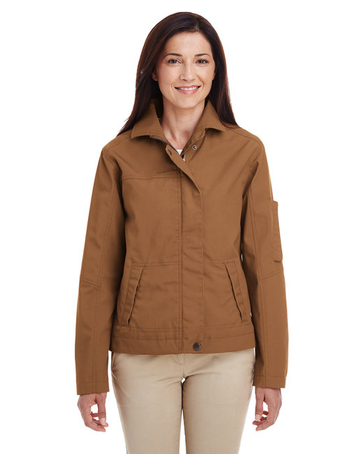 Harriton Ladies' Auxiliary Canvas Work Jacket - Duck Brown