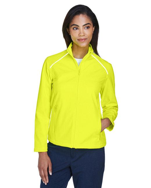 Harriton Ladies' Echo Soft Shell Jacket - Safety Yellow