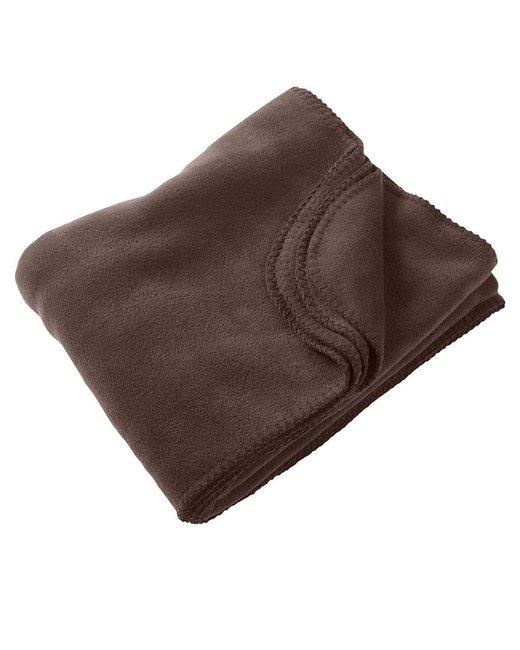 Harriton 12.7 oz. Fleece Blanket - Cocoa