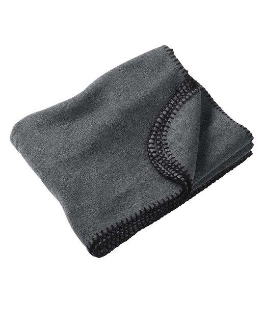 Harriton 12.7 oz. Fleece Blanket - Charcoal
