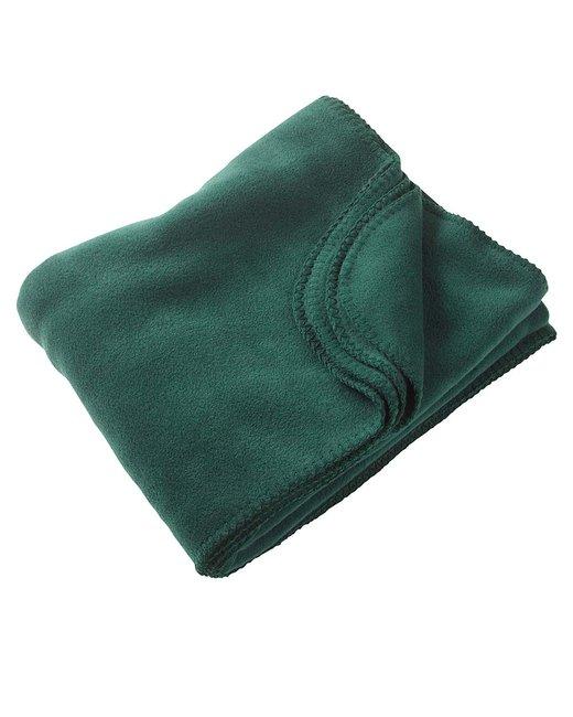 Harriton 12.7 oz. Fleece Blanket - Hunter
