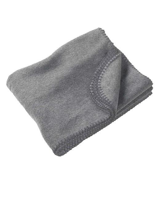 Harriton 12.7 oz. Fleece Blanket - Grey Heather