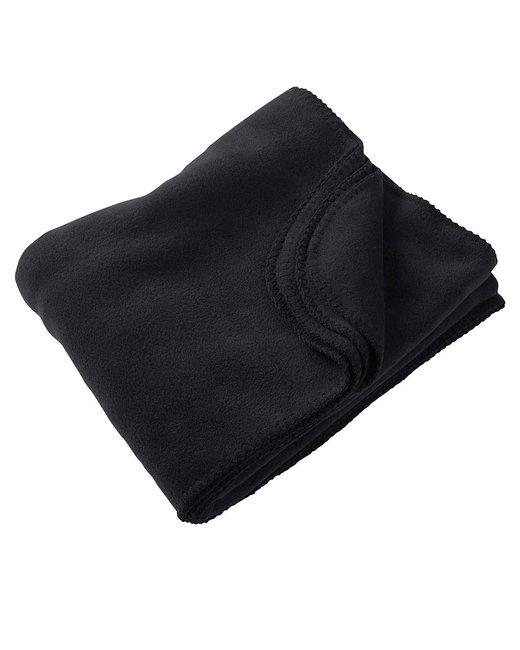 Harriton 12.7 oz. Fleece Blanket - Black