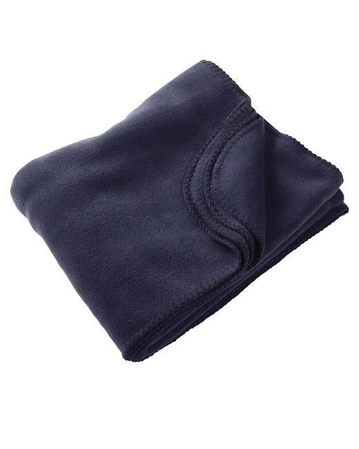Harriton 12.7 oz. Fleece Blanket - Navy