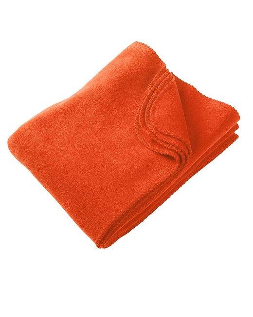 Harriton 12.7 oz. Fleece Blanket - Orange