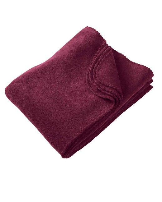 Harriton 12.7 oz. Fleece Blanket - Burgundy