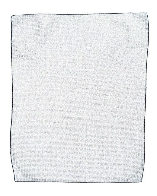 Pro Towels Microfiber Waffle Small - White/ Black