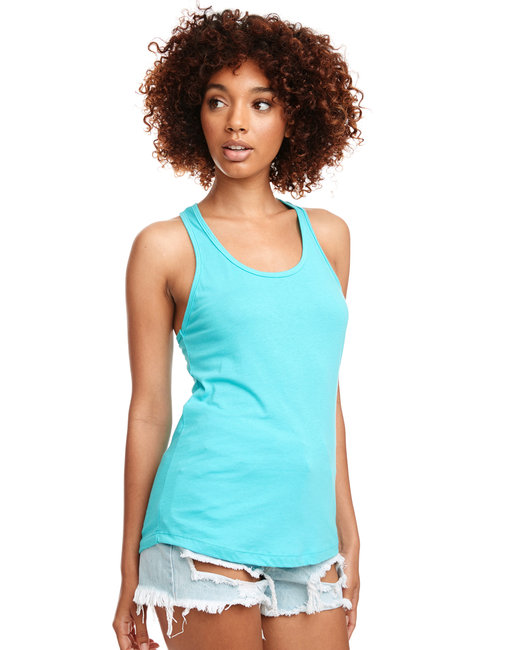 Next Level Ladies' Ideal Racerback Tank - Tahiti Blue