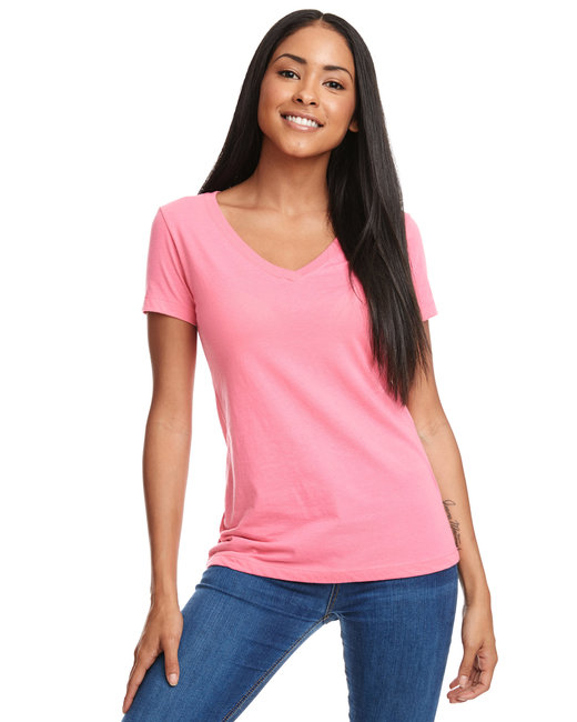 Next Level Ladies' Ideal V - Hot Pink