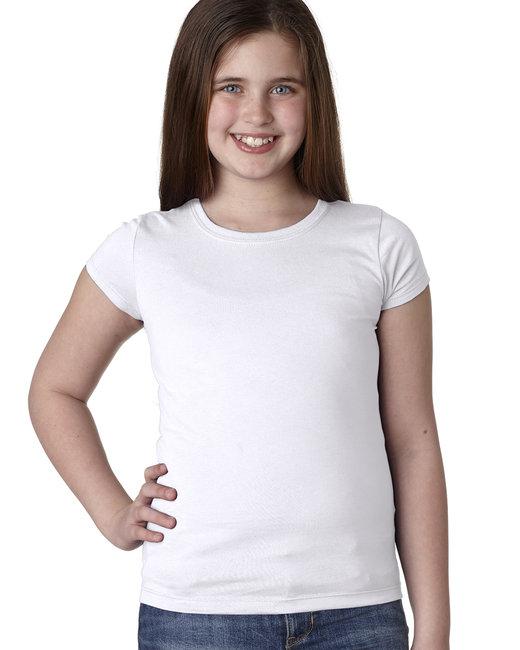 Next Level Youth Girls Princess T-Shirt - White