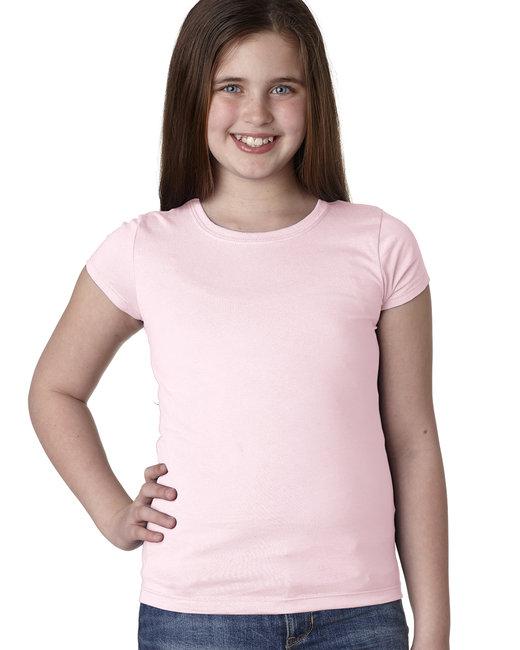 Next Level Youth Girls Princess T-Shirt - Light Pink