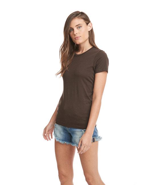 Next Level Ladies' Boyfriend T-Shirt - Dark Chocolate