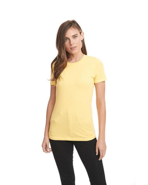 Next Level Ladies' Boyfriend T-Shirt - Vibrant Yellow