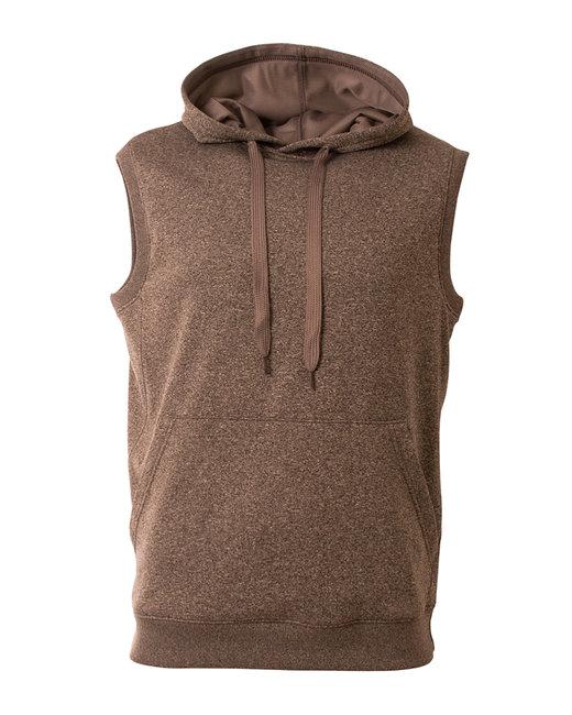A4 Men's Agility Sleeveless Tech Fleece Pullover Hooded Sweatshirt - Charcoal Heather