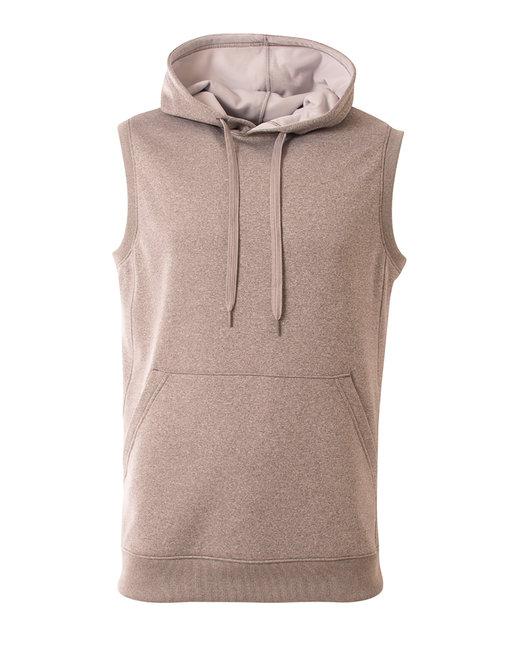 A4 Men's Agility Sleeveless Tech Fleece Pullover Hooded Sweatshirt - Heather