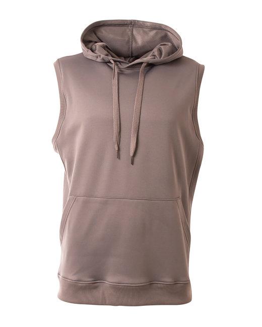 A4 Men's Agility Sleeveless Tech Fleece Pullover Hooded Sweatshirt - Graphite