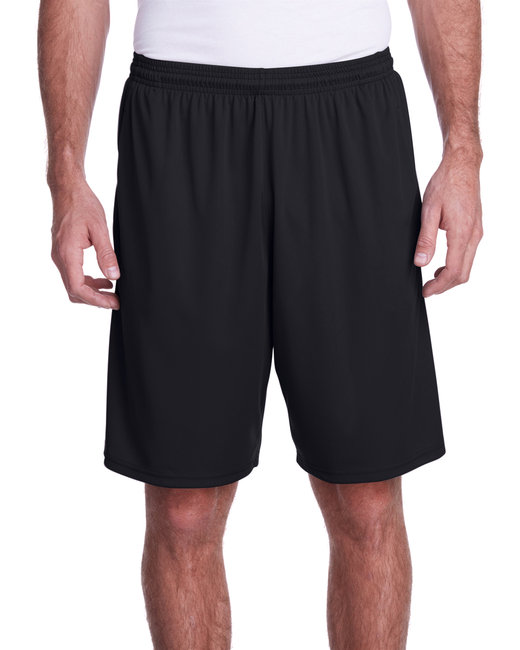A4 Men's Color Block Pocketed Short - Black/ Graphite