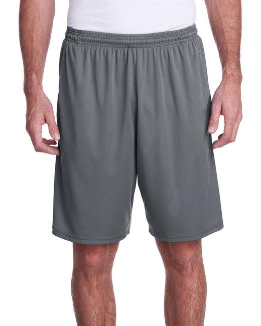 A4 Men's Color Block Pocketed Short - Graphite/ Black