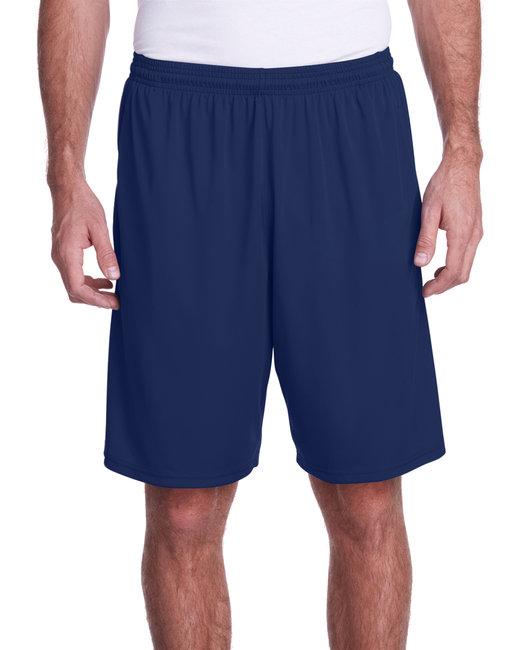 A4 Men's Color Block Pocketed Short - Navy/ Graphite