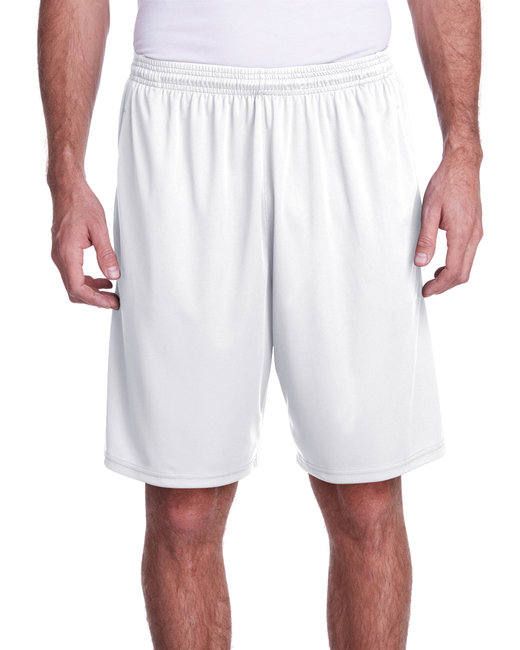 A4 Men's Color Block Pocketed Short - White/ Graphite