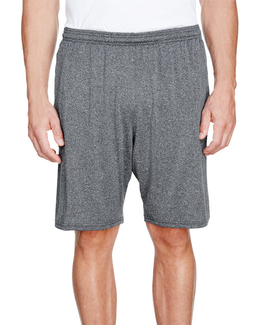 A4 Men's Color Block Pocketed Short - Heather/ Navy