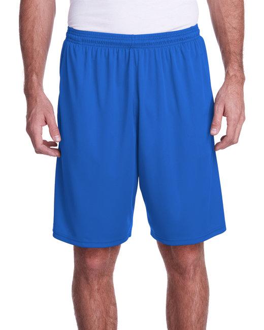 A4 Men's Color Block Pocketed Short - Royal/ Graphite