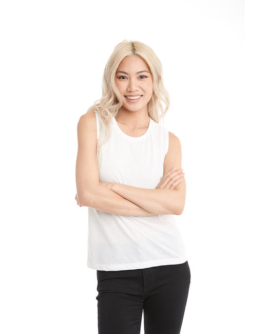 Next Level Ladies' Festival Muscle Tank - White