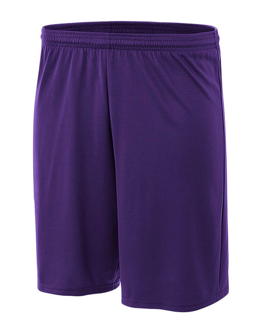 A4 Adult Cooling Performance Power Mesh Practice Short - Purple