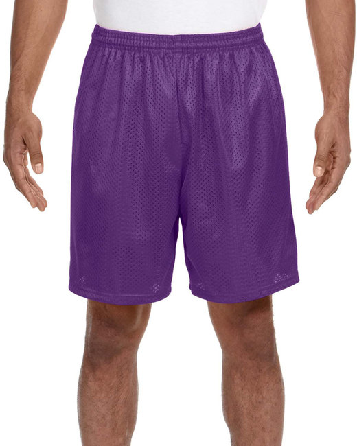 A4 Adult Seven Inch Inseam Mesh Short - Purple